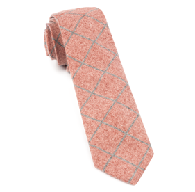 Printed Flannel Pane Orange Ties