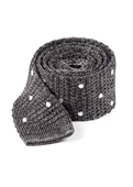 Ties - Scramble Knit Polkas - Charcoal