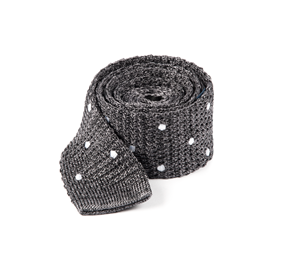 Charcoal Scramble Knit Polkas ties