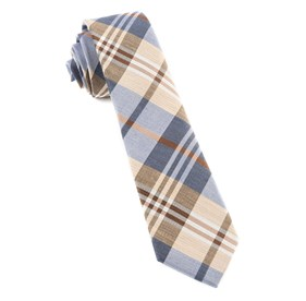 Light Blue Crystal Wave Plaid ties