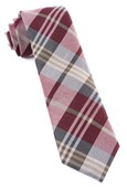 Ties - Crystal Wave Plaid - Burgundy