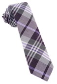 Ties - Crystal Wave Plaid - Eggplant
