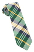 "Crystal Wave Plaid - Hunter Green - 3"" x 58"" - Ties"