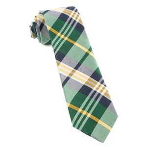 crystal wave plaid hunter green ties