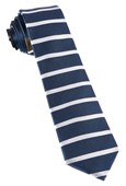 Ties - Extended Stripes - Whale Blue