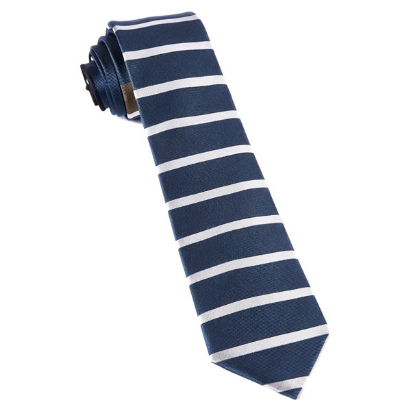 Whale Blue Extended Stripes Tie