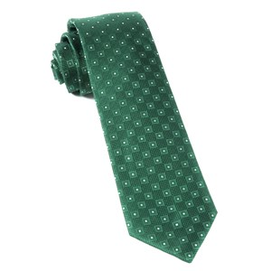 four sided kelly green ties