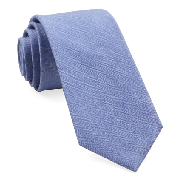 Light Blue Linen Row Tie