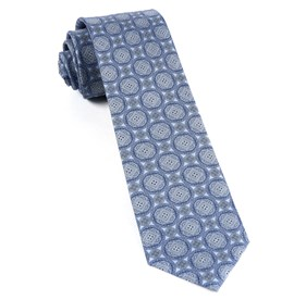 Medallion March Sky Blue Ties