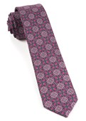 Ties - Medallion March - Fuchsia