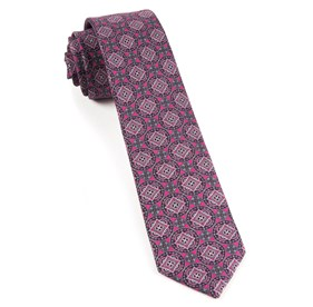 Fuchsia Medallion March ties