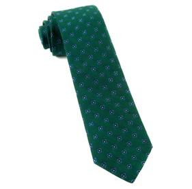 Hunter Green Medallion Scene ties
