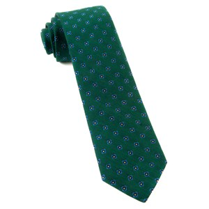 medallion scene hunter green ties