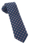 Ties - Medallion Scene - Navy