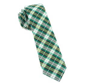 Kelly Green Plaid Outlook ties