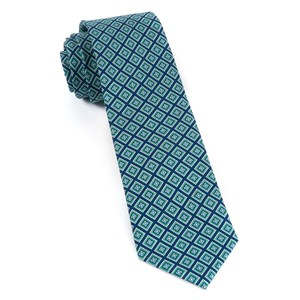 silk squarework navy ties