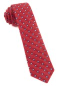 Ties - Medallion Scene - Light Red