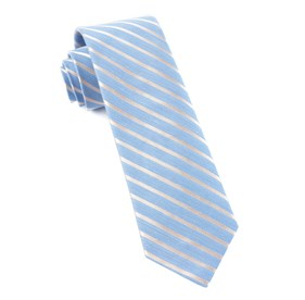 Light Blue Aisle Runner Stripe ties