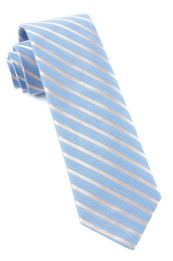 Aisle Runner Stripe Light Blue Tie