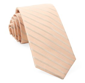 Peach Aisle Runner Stripe ties