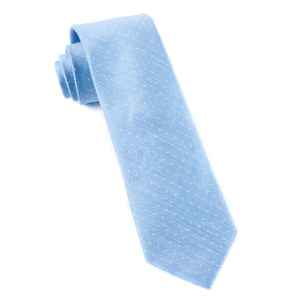 Light Blue Destination Dots Tie