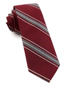 Ties - Detour Stripe - Burgundy