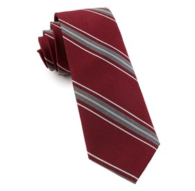 Burgundy Detour Stripe ties