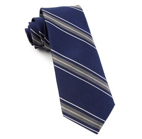 Navy Detour Stripe ties