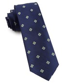 Ties - Medallion Flare - Navy