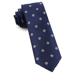medallion flare navy ties