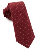 Ties - Rivington Dots - Burgundy