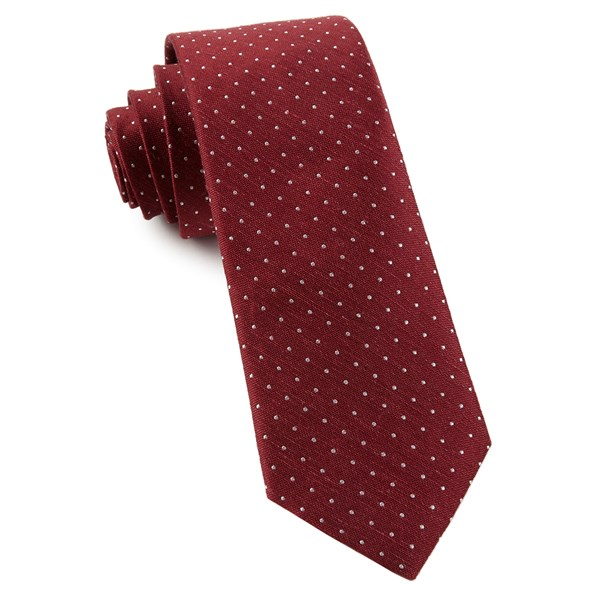 Burgundy Rivington Dots Tie