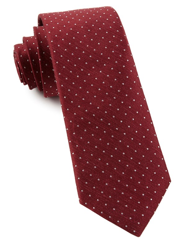 Rivington Dots Burgundy Tie