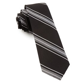 Black Detour Stripe ties