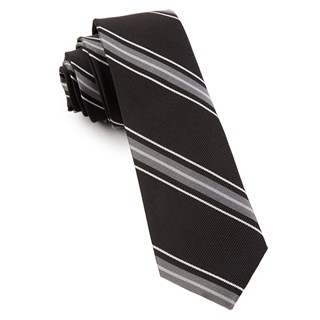 detour stripe black ties