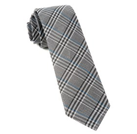 Grey Columbus Plaid ties