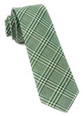 Ties - Columbus Plaid - Moss Green