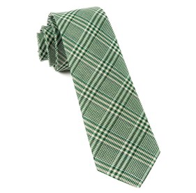 Moss Green Columbus Plaid ties
