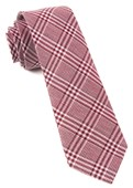 Ties - Columbus Plaid - Raspberry