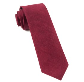 Crimson Linen Row ties