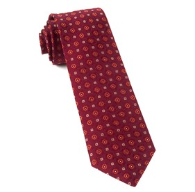 Midtown Medallions Burgundy Ties