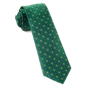 Hunter Green Midtown Medallions ties