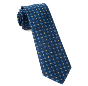 Midtown Medallions Navy Ties