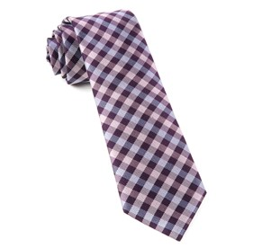 Plum Polo Plaid ties
