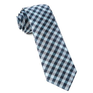 polo plaid navy ties
