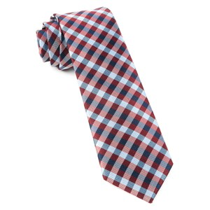 polo plaid red ties