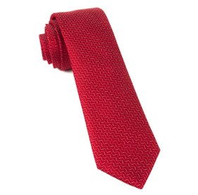 Right Angle Red Ties