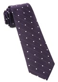Ties - Ringside Dots - Eggplant