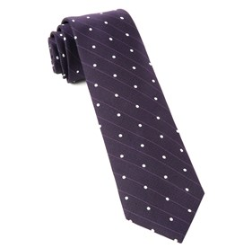 Eggplant Ringside Dots ties