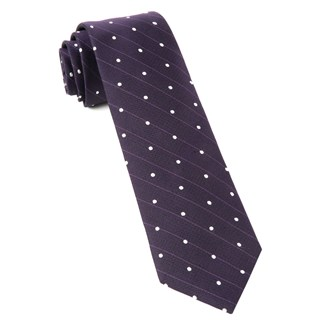 Ringside Dots Eggplant Tie